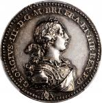 GREAT BRITAIN. George III Coronation Silver Medal, 1761. London Mint. George III. PCGS AU-55 Gold Sh