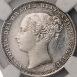 英国 (Great Britain) ヴィクトリア女王像 1シリング銀貨 1864年 KM734.3 / Victoria 1 Shilling Silver Prooflike