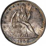1856/1856-O Liberty Seated Half Dollar. WB-9, FS-301. Rarity-2. Early Die State. Repunched Date. MS-