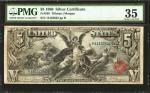 Fr. 268. 1896 $5 Silver Certificate. PMG Choice Very Fine 35.