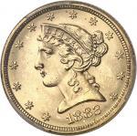 USA République fédérale des États-Unis d'Amérique (1776-à nos jours). 5 dollars Liberty 1882, Philad