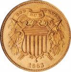 1863年2美分样币 NGC PF 1863 Pattern Two-Cent Piece