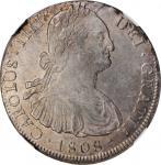 BOLIVIA. 8 Reales, 1808-PTS PJ. Potosi Mint. Charles IV. NGC AU-58.