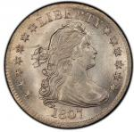 1807 Draped Bust Quarter. Browning-1. Rarity-2. Mint State-65+ (PCGS).PCGS Population: 1, 1 finer (M