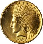 1909 Indian Eagle. MS-64 (PCGS).