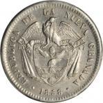 COLOMBIA. 1858 Peso. Bogotá mint. Restrepo 198.9. AU-58 (PCGS).