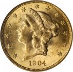 1904 Liberty Head Double Eagle. MS-62 (NGC).