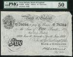 Bank of England, B.G. Catterns, £5, Newcastle 10 June 1929, prefix 431U, black and white, ornate cro