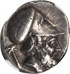 ITALY. Lucania. Metapontum. AR Stater (7.83 gms). NGC Ch EF, Strike: 4/5 Surface: 4/5. Overstruck.