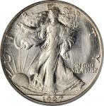 1927-S Walking Liberty Half Dollar. MS-64 (PCGS).