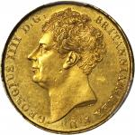 GREAT BRITAIN. 2 Pounds, 1823. George IV (1820-30). PCGS Genuine--Harshly Cleaned, AU Details Secure