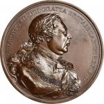 1814 George III Indian Peace Medal. Copper, Bronzed. Large Size. Adams 12.1. (Obverse 1, Reverse A).