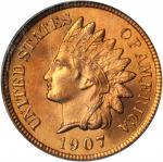 1907 Indian Cent. MS-65 RD (PCGS). CAC. OGH.
