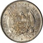 URUGUAY. Peso, 1895. PCGS MS-65 Secure Holder.