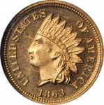 1863 Indian Cent. Proof-64 Cameo (NGC).