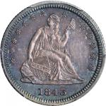 1843 Liberty Seated Quarter. Briggs 4-E. Proof-65 (PCGS). CAC. Secure Holder.