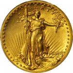 MCMVII (1907) Saint-Gaudens Double Eagle. High Relief. Wire Rim. MS-63 (PCGS).