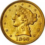 1846-O Liberty Head Half Eagle. AU-58 (PCGS).