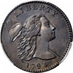1794 Liberty Cap Cent. S-28. Rarity-2+. Head of 1794. AU Details--Repaired (PCGS).