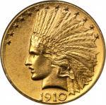 1910-D Indian Eagle. Unc Details--Improperly Cleaned (NCS).