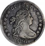 1797 Draped Bust Dime. JR-2. Rarity-4. 13 Stars. VF Details--Repaired (PCGS).