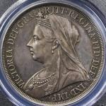 GREAT BRITAIN Victoria ヴィクトリア(1837~1901) Crown 1893LVI PCGS-PR63 トーン Proof UNC