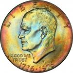 1976-D Eisenhower Dollar. Type II Reverse. MS-66 (PCGS).