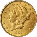1907 Liberty Head Double Eagle. MS-61 (PCGS).