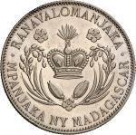Monnaies coloniales MADAGASCAR Ranavalona III, reine de Madagascar, 18831897