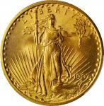 1907 Saint-Gaudens Double Eagle. No Motto. MS-65 (PCGS).