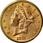 1887-S Liberty Head Double Eagle. MS-62 (PCGS).
