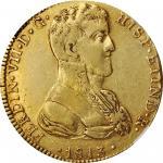 1813年墨西哥独立战争费迪南德七世8埃斯库多  NGC XF 45 MEXICO War of Independence 8 Escudos 1813-Ga MR