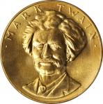 1981 One-Ounce American Arts Gold Medallion. Mark Twain. MS-66 (PCGS).