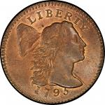 1795 Liberty Cap Cent. Sheldon-75. Lettered Edge. Rarity-3. Mint State-65+ RB (PCGS).
