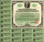 United States of America. Acts of September 24, 1917, amended April 4, 1918. $500. 4-1/4% Coupon Gol