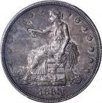1883 Trade Dollar. Proof-62 (PCGS).
