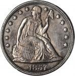 1857 Liberty Seated Silver Dollar. OC-2. Rarity-3. EF Details--Repaired (PCGS).