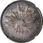 MEXICO. 4 Reales, 1850-C CE. Culiacan Mint. NGC AU-53.