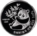 1988年纽约第17届国际硬币展销会纪念钯章1盎司 NGC PF 69