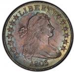 1803 Draped Bust Half Dollar. Overton-104. Small 3. Rarity-3. MS-64 (PCGS).PCGS Population: 1, none