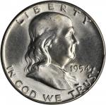 1954 Franklin Half Dollar. PD Set. MS-65 FBL (PCGS).