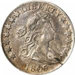1806/5 Draped Bust Half Dollar. O-103, T-8. Rarity-2. Large Stars. VF-25 (PCGS).