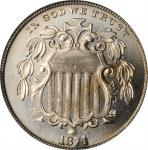 1874 Shield Nickel. Proof-67 (PCGS).