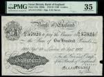 Bank of England, Ernest Musgrave Harvey (1918-1925), 100, London, 19 September 1922, serial number 2