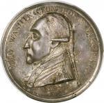 1790 Manly Medal. Original Dies. Musante GW-10, Baker-61. Silver. Name Removed. Unc Details--Damage