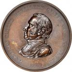 1849 Zachary Taylor Indian Peace Medal. First Size. Bronzed Copper. 76 mm. Julian IP-27. Mint State,