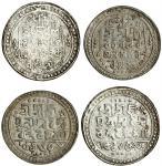 Jaintiapur, Bargosain II (1731-70), Tankas (2), 7.30, 9.35g, Sk. 1653, legends and main symbols as p