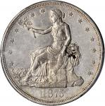 1875-CC Trade Dollar. Type I/I--Chopmark--AU Details--Cleaning (PCGS).