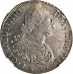 GUATEMALA. 8 Reales, 1805-NG M. Nueva Guatamala Mint. NGC MS-62.