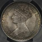 GREAT BRITAIN Victoria ヴィクトリア(1837~1901)   Florin 1859 PCGS-MS64+ UNC+